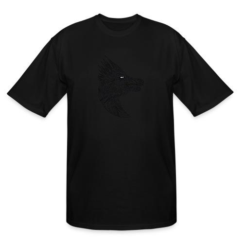 black art deco dragon head - Men's Tall T-Shirt