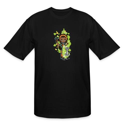 Aisha the African American Chibi Girl - Men's Tall T-Shirt