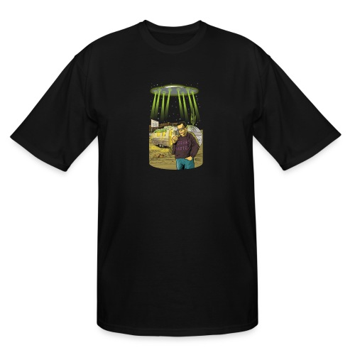 Art Bell Coast to Coast UFO Sighting - Men's Tall T-Shirt