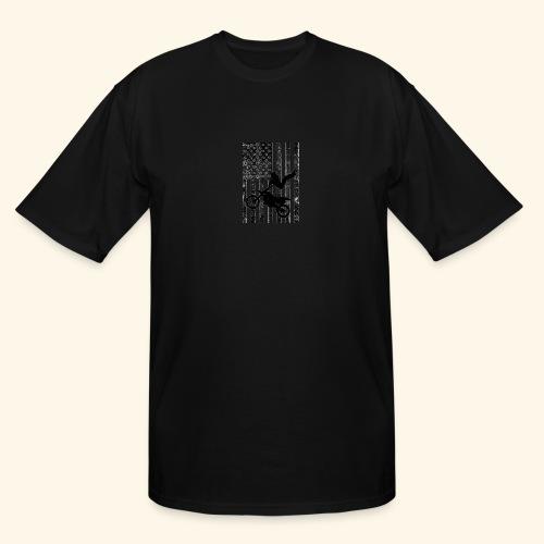 American Flag (Black and white) - Men's Tall T-Shirt