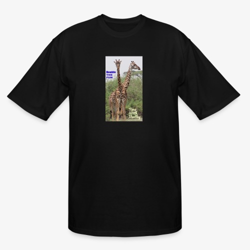 Two Headed Giraffe - Men's Tall T-Shirt