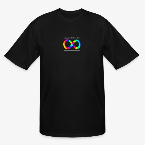 Embrace Neurodiversity with Swirl Rainbow - Men's Tall T-Shirt