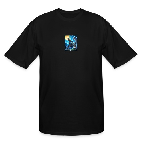Blue lighting dragom - Men's Tall T-Shirt