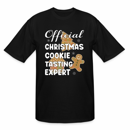 Funny Official Christmas Cookie Tasting Expert. - Men's Tall T-Shirt