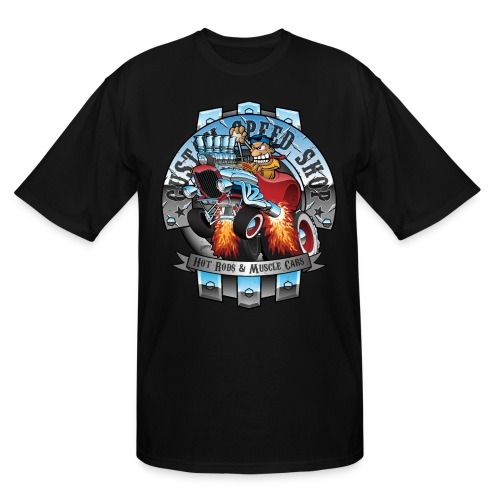 Custom Speed Shop Hot Rods and Muscle Cars Illustr - Men's Tall T-Shirt