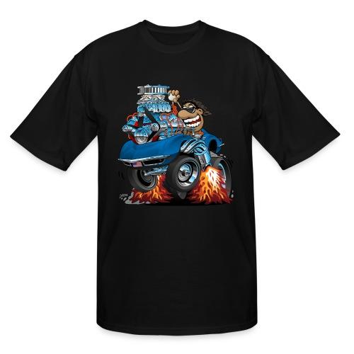 Classic '69 American Sports Car Cartoon - Men's Tall T-Shirt