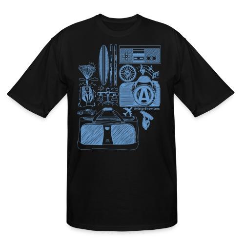 Aviator s World Blue - Men's Tall T-Shirt