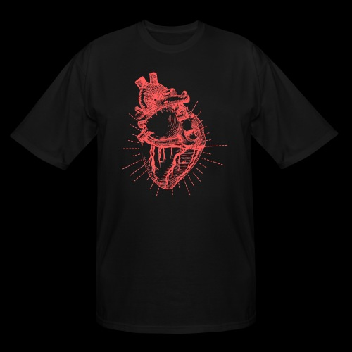 Hand Sketched Heart - Men's Tall T-Shirt