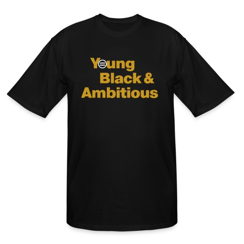 YBA Black and Gold Shirt2 - Men's Tall T-Shirt