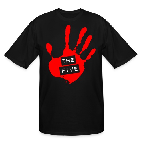 the five logo red on transparent brigh - Men's Tall T-Shirt
