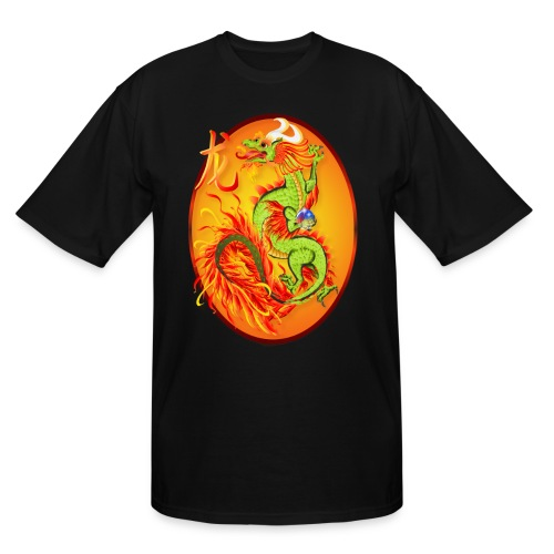 New Year Dragon and Symbol Oval - Men's Tall T-Shirt