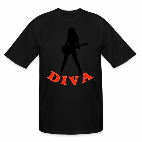 Rock Star Diva - Men's Tall T-Shirt