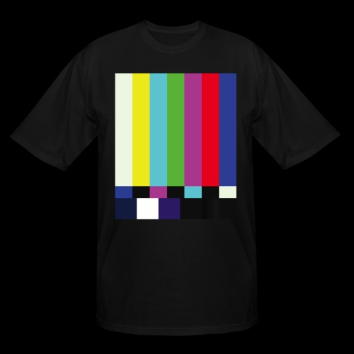 This is a TV Test | Retro Television Broadcast - Men's Tall T-Shirt