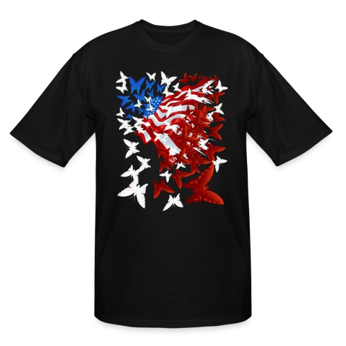 The Butterfly Flag - Men's Tall T-Shirt