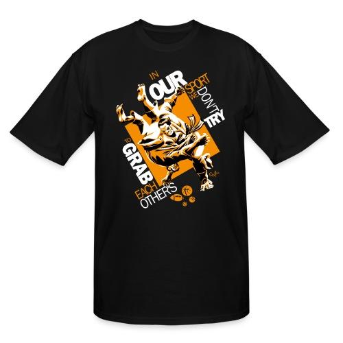 Judo Grab Design for dark shirts - Men's Tall T-Shirt