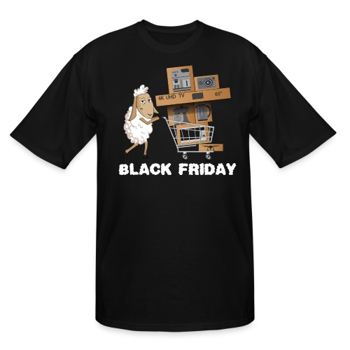 Black Friday or The day of Panurge's Sheeps - Men's Tall T-Shirt