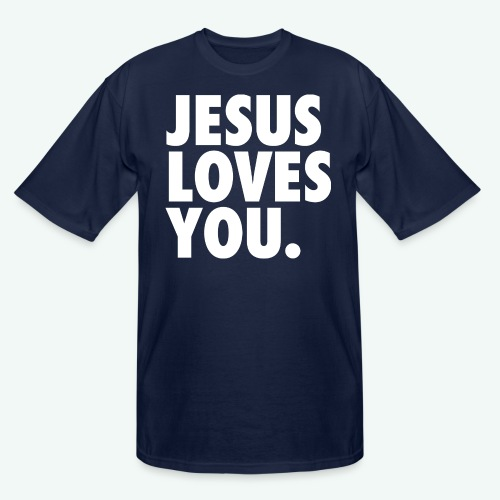 JESUS LOVES YOU - Men's Tall T-Shirt