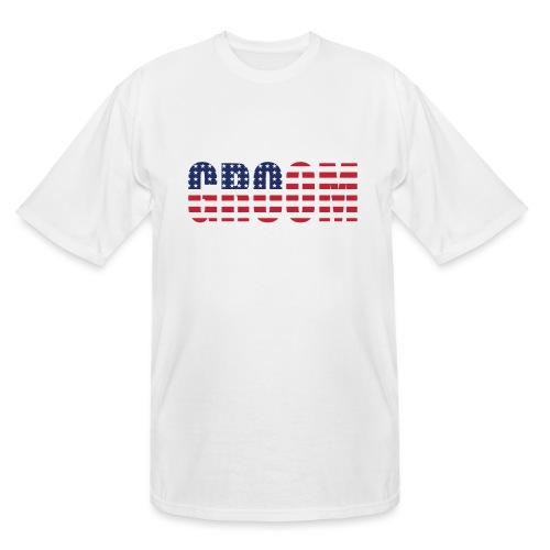 Groom US Flag - Men's Tall T-Shirt
