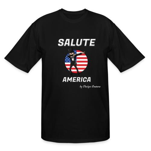 SALUTE AMERICA WHITE - Men's Tall T-Shirt