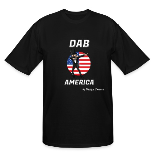 DAB AMERICA WHITE - Men's Tall T-Shirt