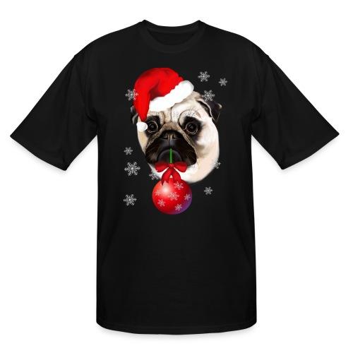 A Very Merry Christmas Pug - Men's Tall T-Shirt