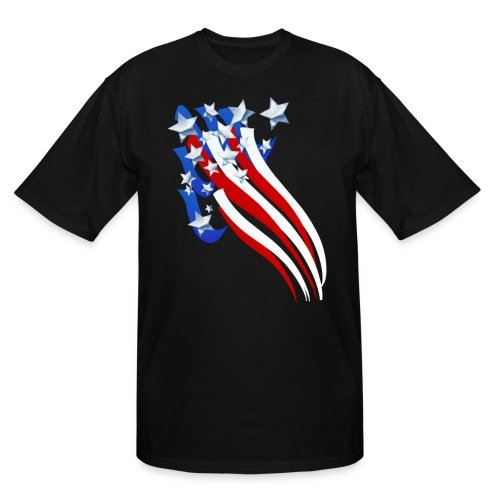 Sweeping Old Glory - Men's Tall T-Shirt