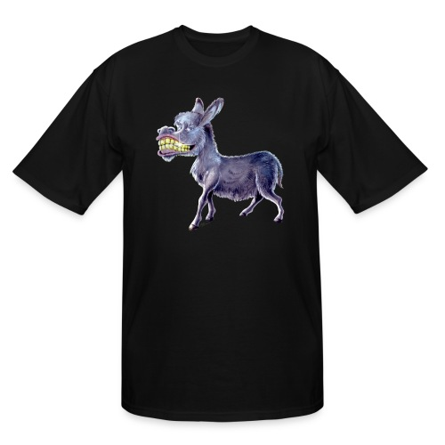 Funny Keep Smiling Donkey - Men's Tall T-Shirt