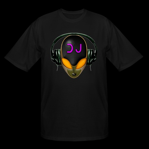 Alien DJ - Orange - Hard Shell Bug - Men's Tall T-Shirt