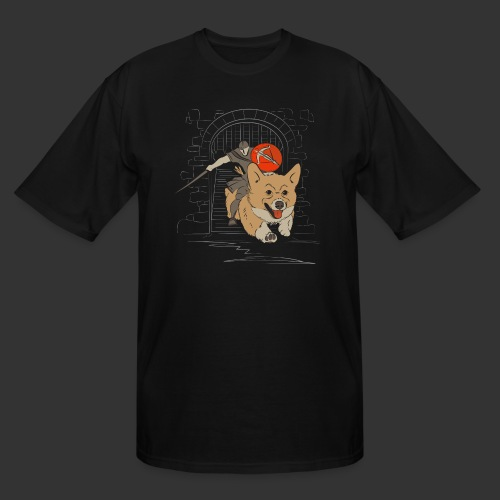 A Corgi Knight charges into battle - Men's Tall T-Shirt