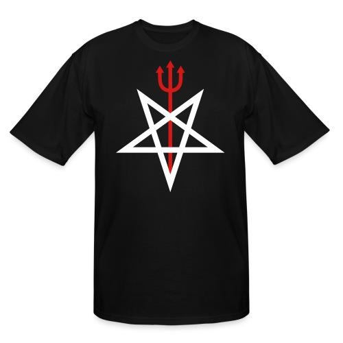 Pitchfork Pentagram - Men's Tall T-Shirt