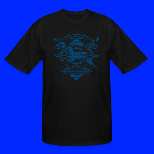 Vintage Leet Sauce Studios Crest Blue - Men's Tall T-Shirt