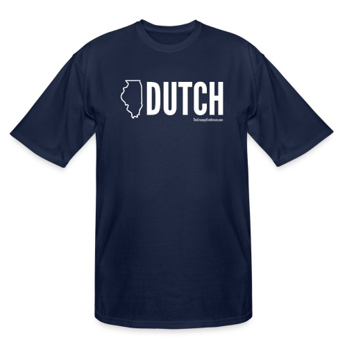 Illinois Dutch (White Text) - Men's Tall T-Shirt