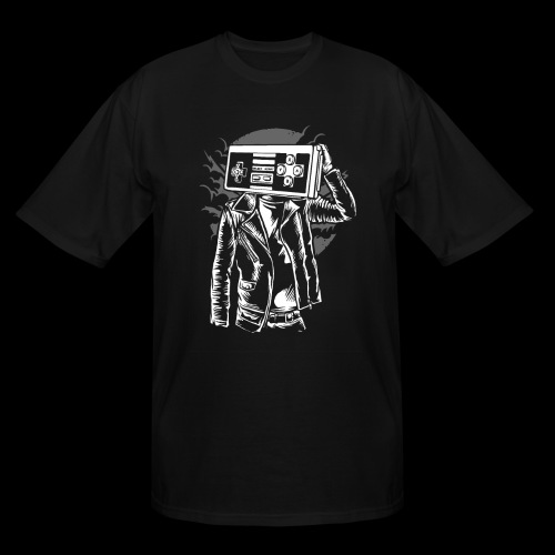 Retro Gamer Head - Men's Tall T-Shirt