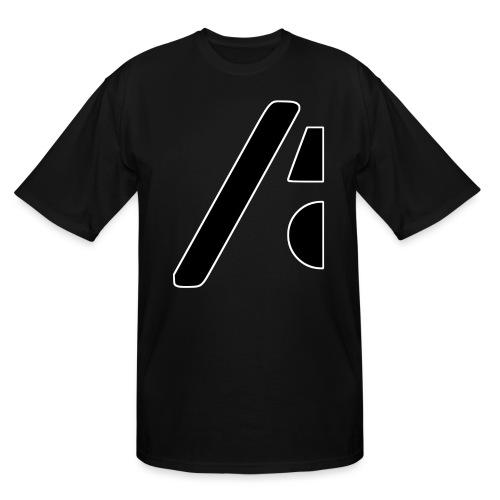 Half the logo, full on style - Men's Tall T-Shirt