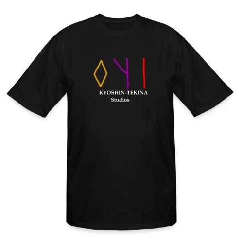 Kyoshin-Tekina Studios logo (white text) - Men's Tall T-Shirt
