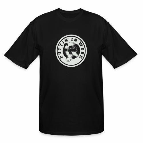 P.I.W White Logo - Men's Tall T-Shirt