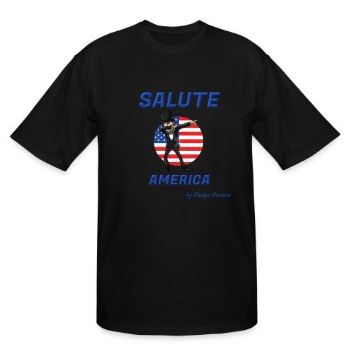SALUTE AMERICA BLUE - Men's Tall T-Shirt