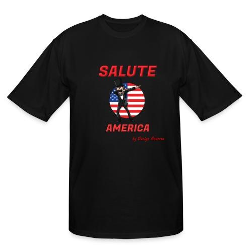 SALUTE AMERICA RED - Men's Tall T-Shirt