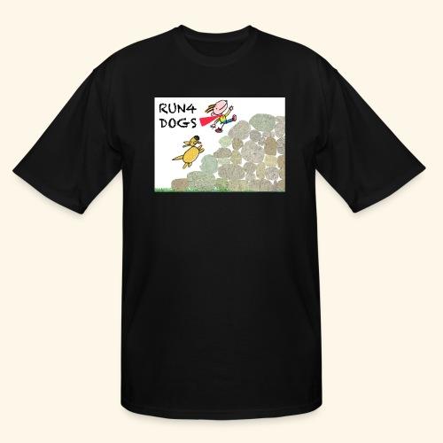 Dog chasing kid - Men's Tall T-Shirt