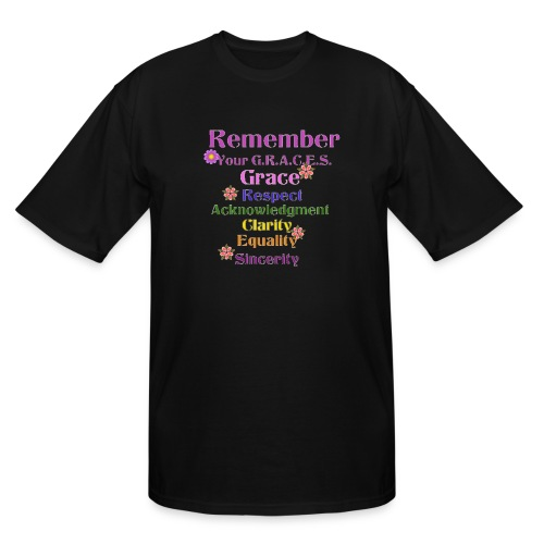 Remember Your GRACES - Men's Tall T-Shirt