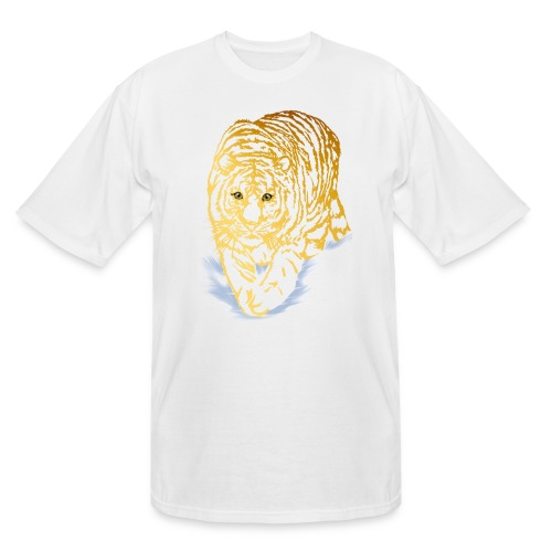 Golden Snow Tiger - Men's Tall T-Shirt