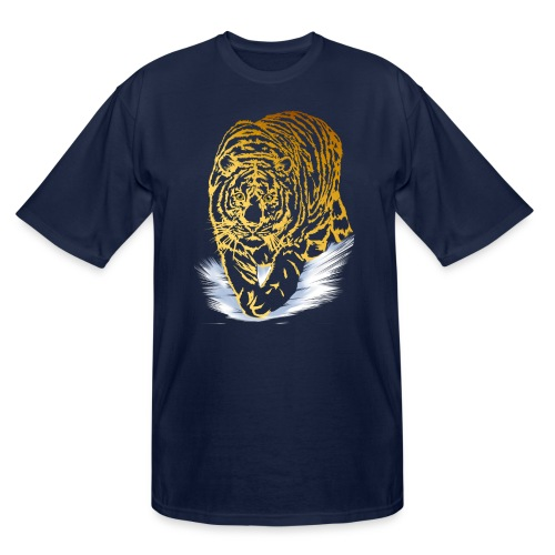 Golden Snow Tiger - Men's Tall T-Shirt