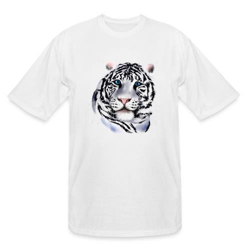 White Tiger Face - Men's Tall T-Shirt