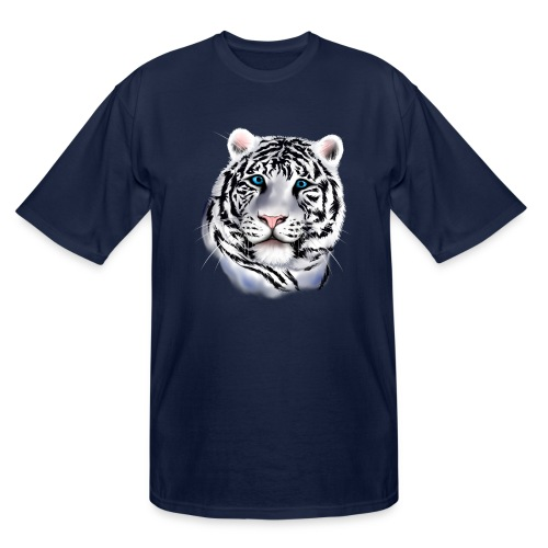 White Tiger Face - Men's Tall T-Shirt
