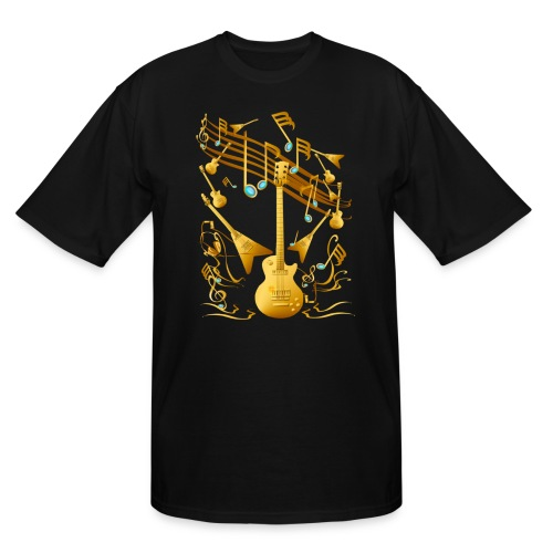Gold Guitar Party - Men's Tall T-Shirt