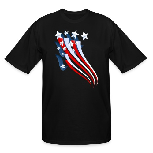 Sweeping American Flag - Men's Tall T-Shirt