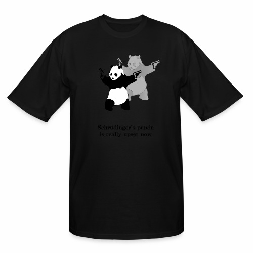 Schrödinger's panda is really upset now - Men's Tall T-Shirt