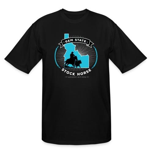 Turquose Sunburst Logo - Men's Tall T-Shirt