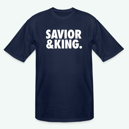 SAVIOR AND KING - Men's Tall T-Shirt