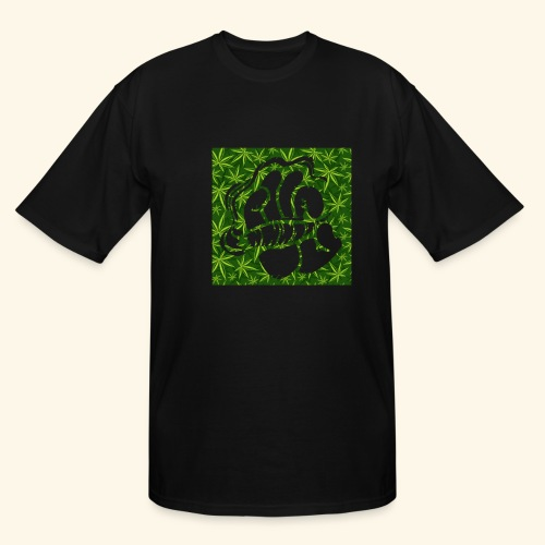 Hand with a joint - smoking weed 420 lifestyle - Men's Tall T-Shirt